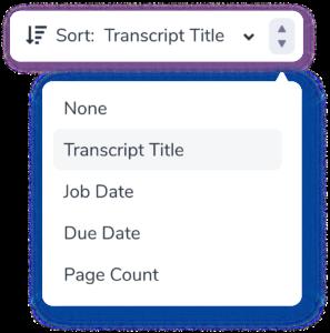 Transcript sort